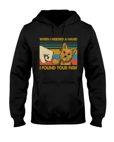 Retro Blue I Found Your Paw Yorkshire Terrier