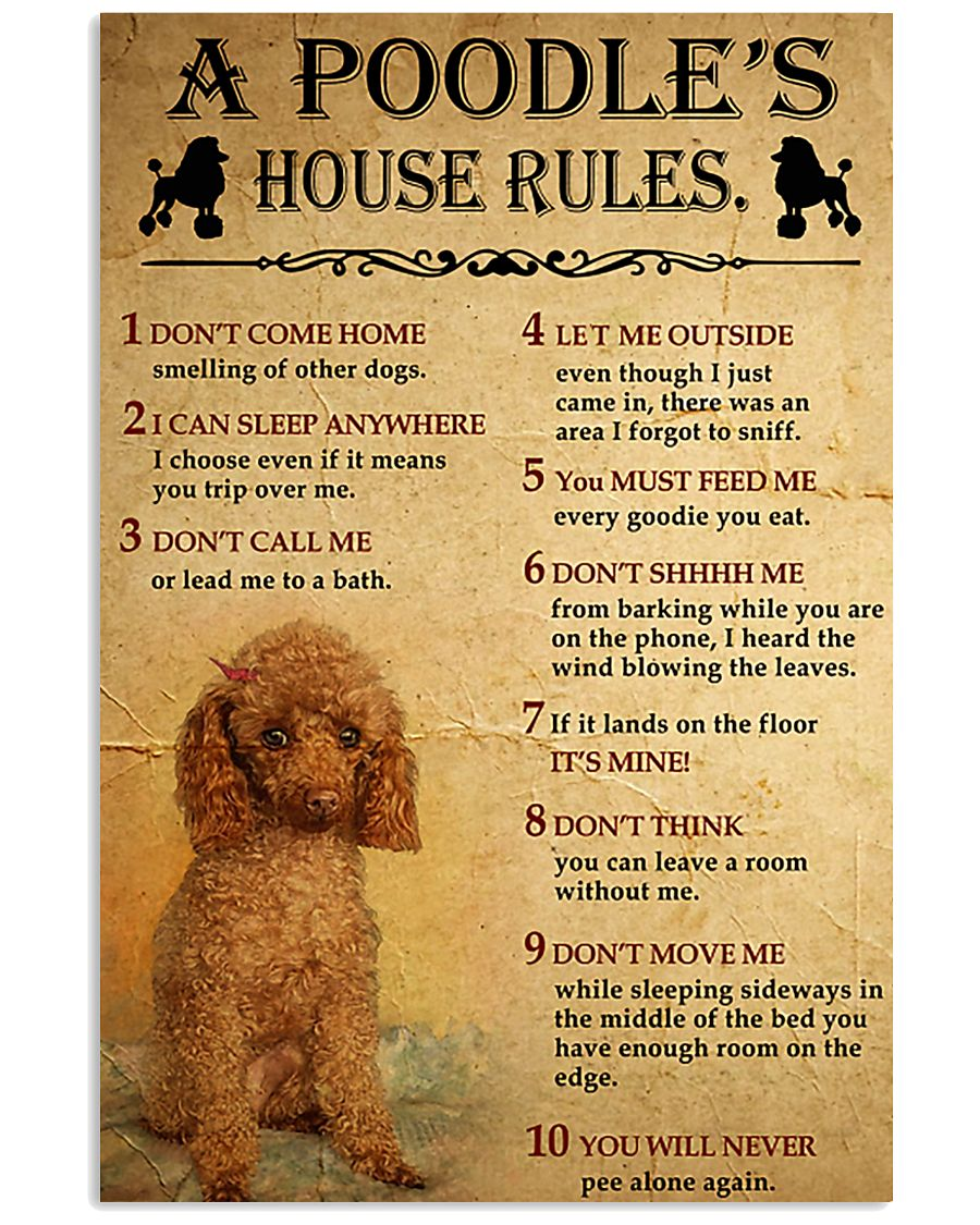 A Poodle's House Rules 11x17 Poster