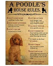 A Poodle's House Rules 11x17 Poster front
