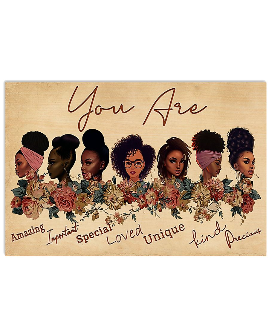 You Are Amazing Black Girl 17x11 Poster
