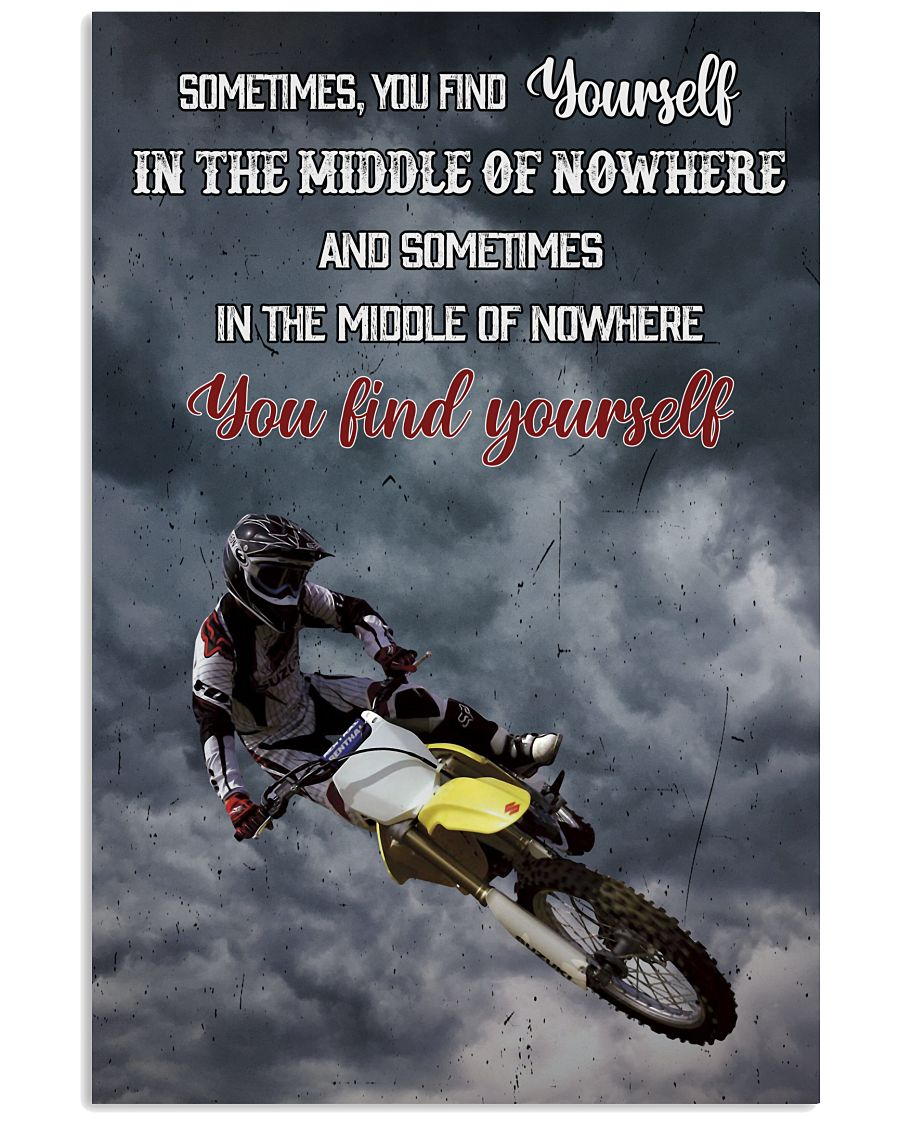 Motocross Find Yourself 16x24 Poster