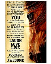 Horse Today Is A Good Day 11x17 Poster front