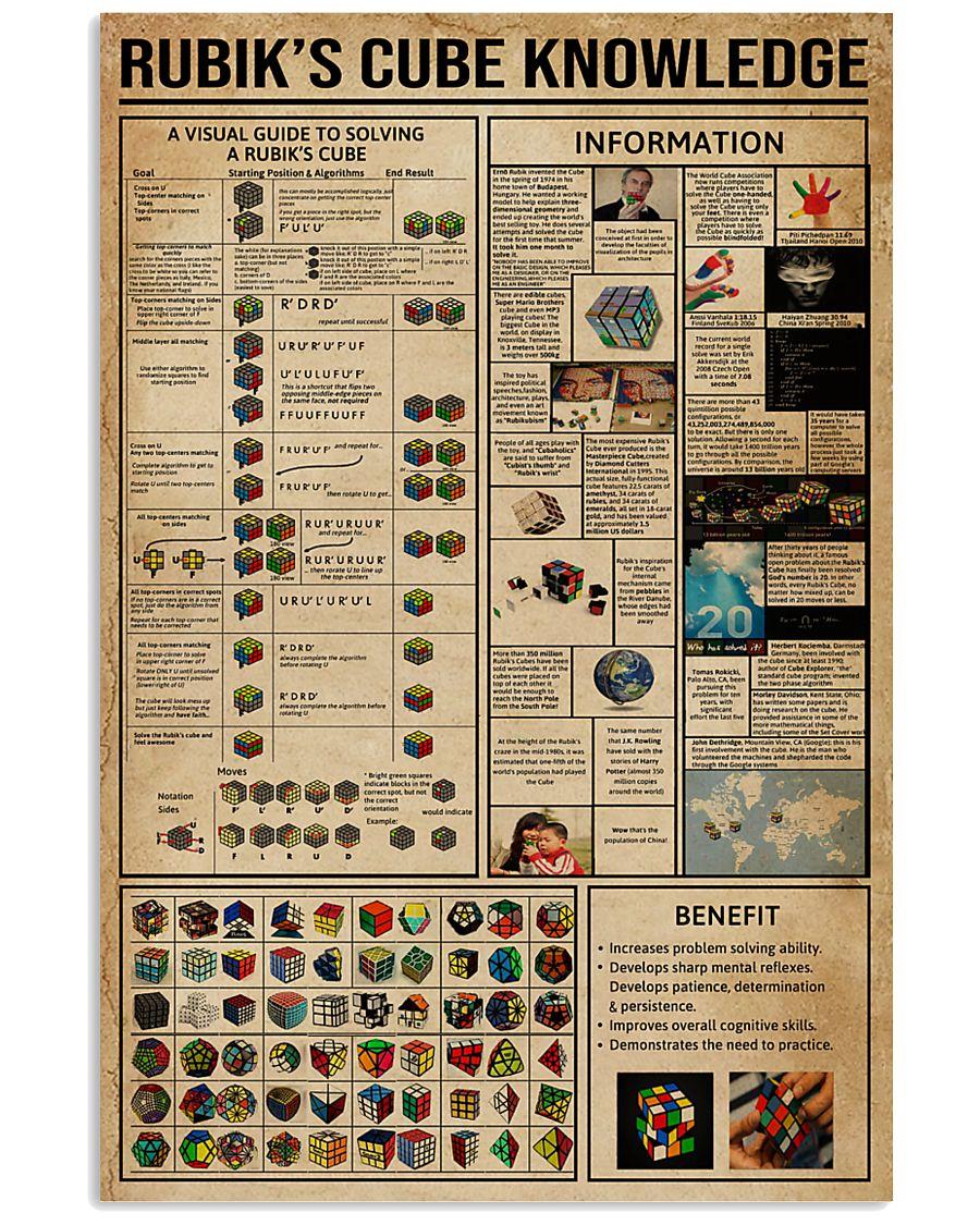 Rubik Cube Knowledge 24x36 Poster