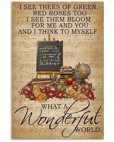 Floral Music Sheet Wonderful World Teacher