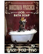 Red Bath Soap Doberman Pinscher 11x17 Poster front