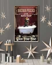 Red Bath Soap Doberman Pinscher 11x17 Poster lifestyle-holiday-poster-1