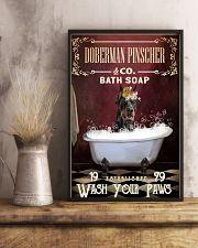 Red Bath Soap Doberman Pinscher 11x17 Poster lifestyle-poster-3