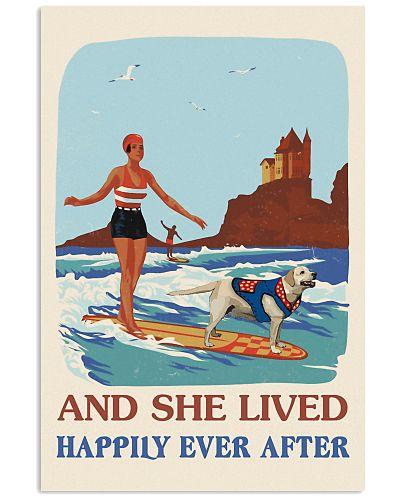 Retro Lived Happily Surfing Labrador Retriever