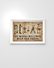 Catchphrase Works Willingly With Hand Hairstylist 24x16 Poster poster-landscape-24x16-lifestyle-02