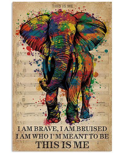 Vintage Music I Am Brave Pride Elephant