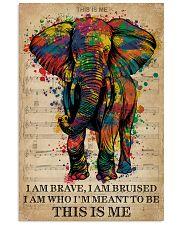 Vintage Music I Am Brave Pride Elephant 11x17 Poster front