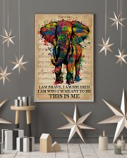 Vintage Music I Am Brave Pride Elephant 11x17 Poster lifestyle-holiday-poster-1