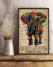 Vintage Music I Am Brave Pride Elephant 11x17 Poster lifestyle-poster-3