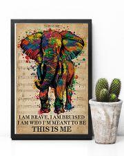 Vintage Music I Am Brave Pride Elephant 11x17 Poster lifestyle-poster-8