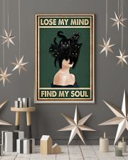 Retro Green Find My Soul Black Cat Lady 11x17 Poster lifestyle-holiday-poster-1