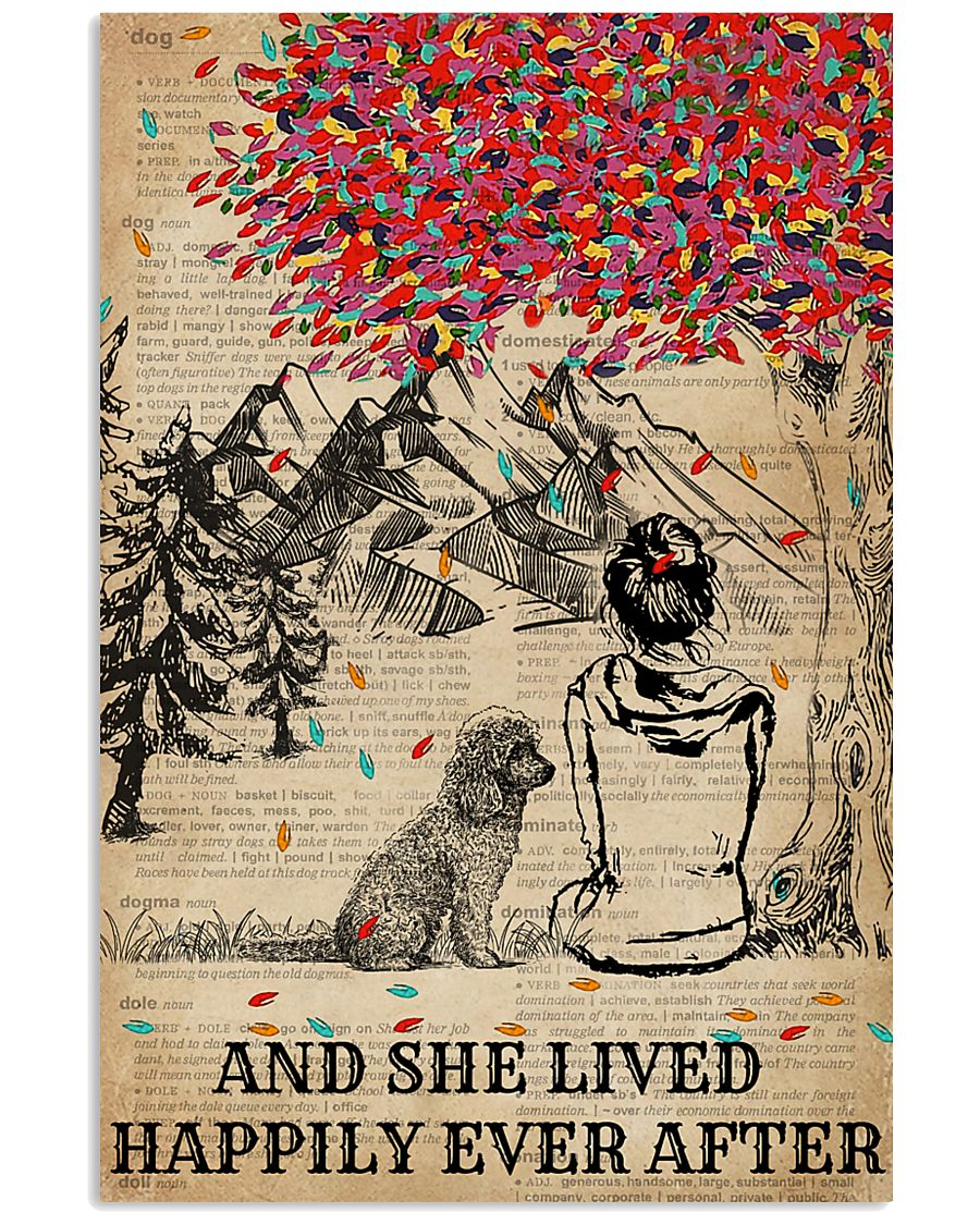 Dictionary Girl Happily Ever Poodle 11x17 Poster