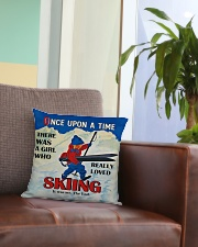Skiing Once Upon A Time Square Pillowcase aos-pillow-square-front-lifestyle-03