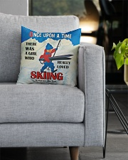 Skiing Once Upon A Time Square Pillowcase aos-pillow-square-front-lifestyle-05