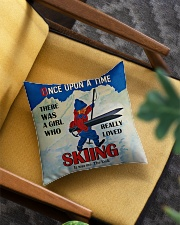 Skiing Once Upon A Time Square Pillowcase aos-pillow-square-front-lifestyle-07