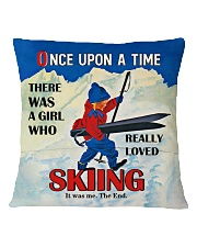 Skiing Once Upon A Time Square Pillowcase back