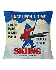 Skiing Once Upon A Time Square Pillowcase front