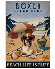 Vintage Beach Club Is Ruff Boxer 11x17 Poster front