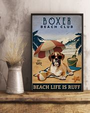 Vintage Beach Club Is Ruff Boxer 11x17 Poster lifestyle-poster-3