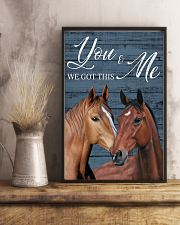 Blue Pallet Got This Horse 11x17 Poster lifestyle-poster-3