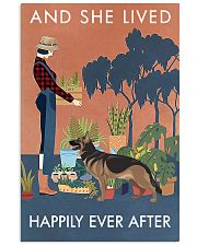 Vintage Lived Happily Gardening German Shepherd 11x17 Poster front