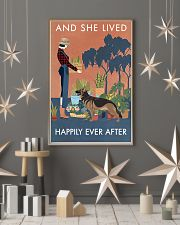 Vintage Lived Happily Gardening German Shepherd 11x17 Poster lifestyle-holiday-poster-1