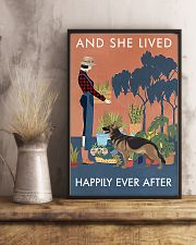Vintage Lived Happily Gardening German Shepherd 11x17 Poster lifestyle-poster-3