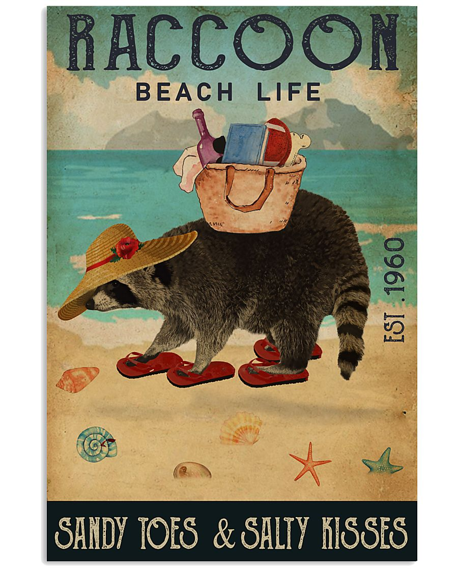 Beach Life Sandy Toes Raccoon 11x17 Poster