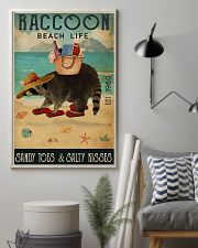 Beach Life Sandy Toes Raccoon 11x17 Poster lifestyle-poster-1