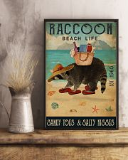 Beach Life Sandy Toes Raccoon 11x17 Poster lifestyle-poster-3