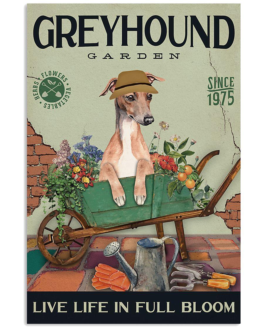 Greyhound Garden 11x17 Poster