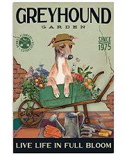 Greyhound Garden 11x17 Poster front