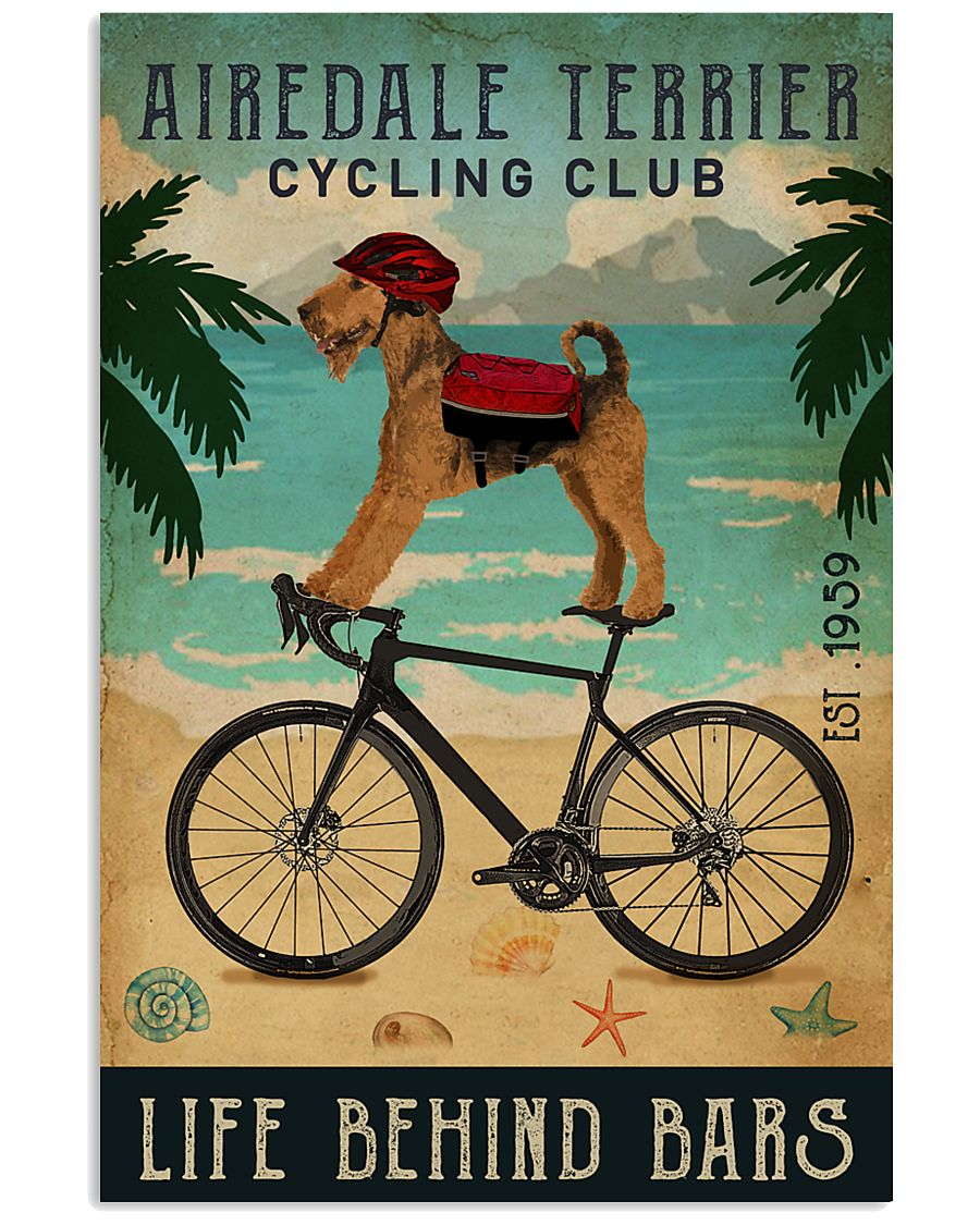 Cycling Club Airedale Terrier 11x17 Poster