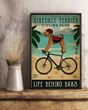 Cycling Club Airedale Terrier 11x17 Poster lifestyle-poster-3