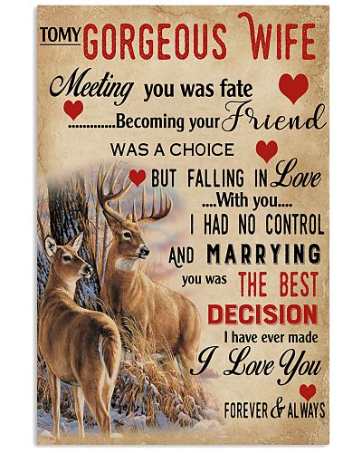 To My Gorgeous Wife Falling In Love Deer