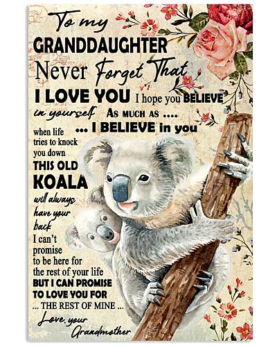 Koala Grandmother To Granddaughter Never Forget