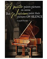 Piano A Painter Paints Pictures 11x17 Poster front