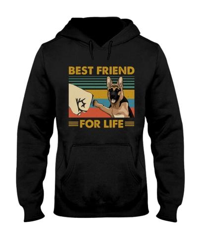 Retro Blue Best Friend For Life German Shepherd