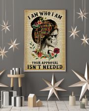 I Am Who I Am Skeleton Reading 11x17 Poster lifestyle-holiday-poster-1