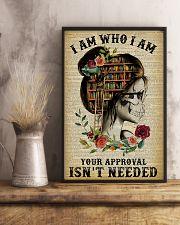 I Am Who I Am Skeleton Reading 11x17 Poster lifestyle-poster-3