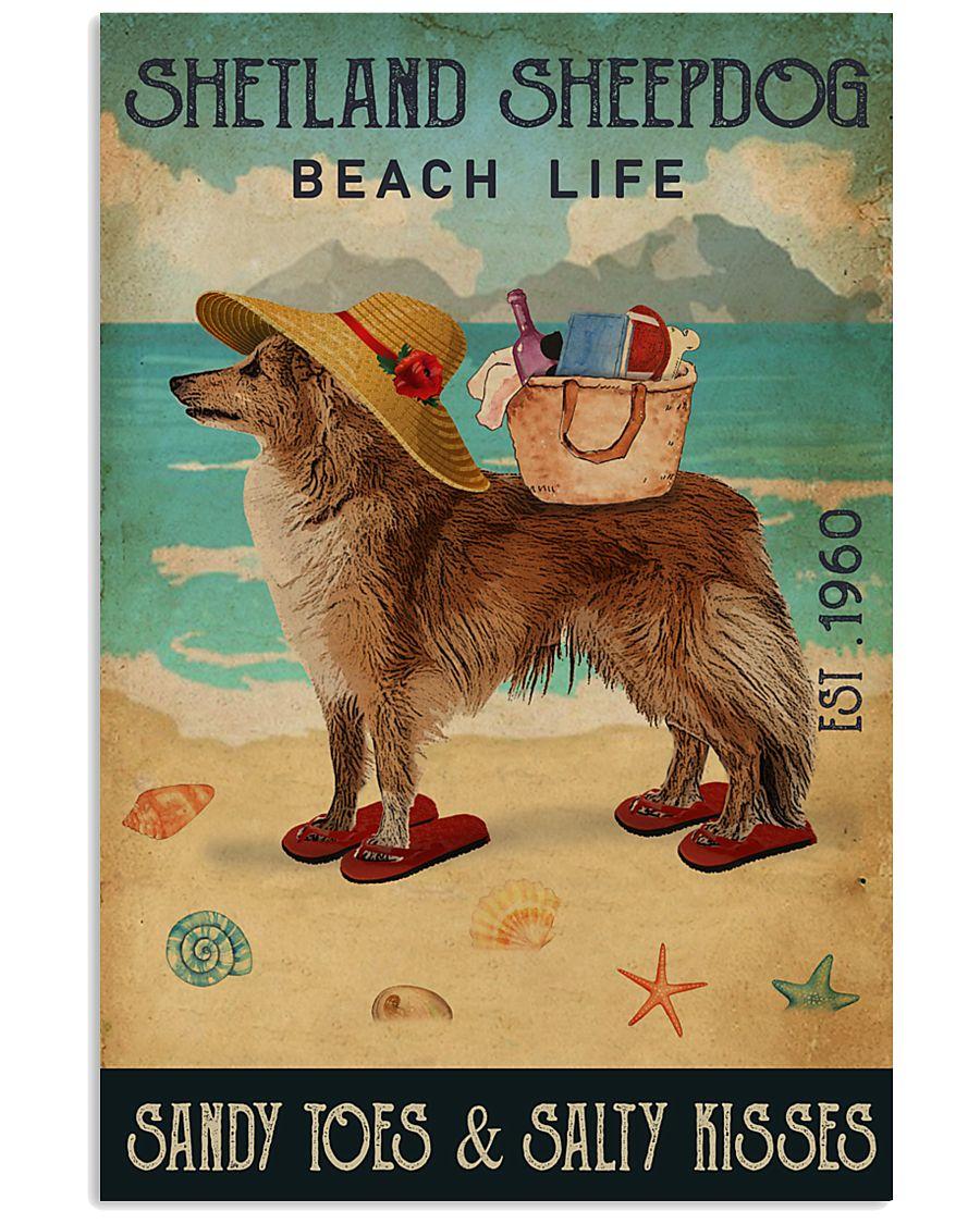 Beach Life Sandy Toes Shetland Sheepdog 11x17 Poster