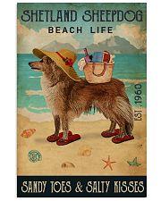 Beach Life Sandy Toes Shetland Sheepdog 11x17 Poster front