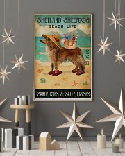 Beach Life Sandy Toes Shetland Sheepdog 11x17 Poster lifestyle-holiday-poster-1