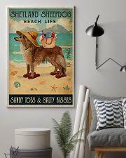 Beach Life Sandy Toes Shetland Sheepdog 11x17 Poster lifestyle-poster-1