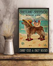 Beach Life Sandy Toes Shetland Sheepdog 11x17 Poster lifestyle-poster-3