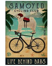 Cycling Club Samoyed 11x17 Poster front